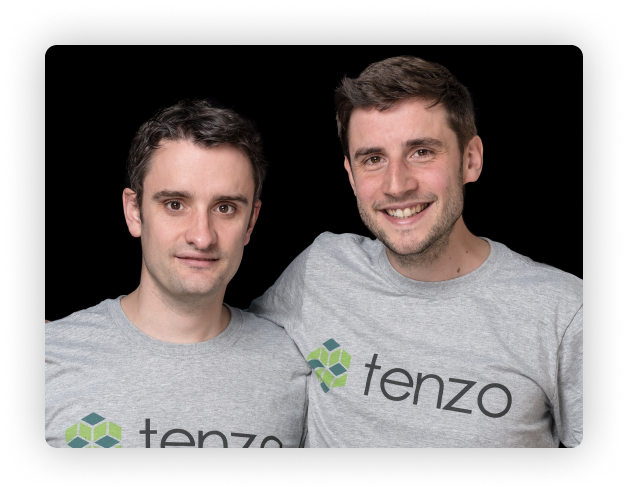 Tenzo company founders Adam and Christian